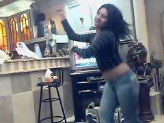 Arab girl dancing
