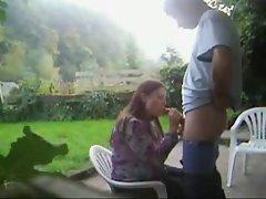 blowjob in the garden and facial