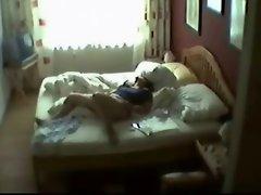 The best hidden cam of the net. My mom masturbating
