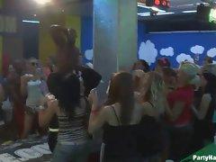 Fireman stripper dances while..