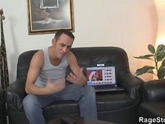 Blonde slut takes deep anal fucking