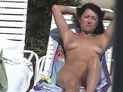 Nude at Pool
