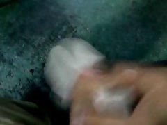 cum in latex glove