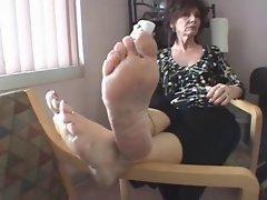 fantastic mature wrinkled soles