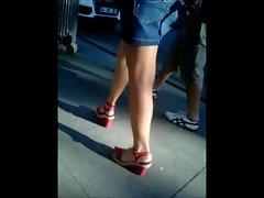 Heels, legs, feet on Bagdat Street