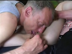 Teen Gets Used By Three Old Pervs !