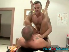 Hardcore gay porn video at the office gay sex