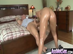 Oiled Sexy Ass Girl Get Anal Sex vid-07
