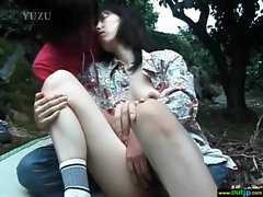 Hot Asian Girl Get Hard Bang In Wild Place vid-01
