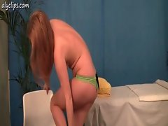 Redhead babe gets drilled and gets sperm