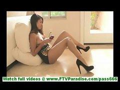 Bonaja sexy amateur latina with gorgeous ass masturbating with vibrator on floor