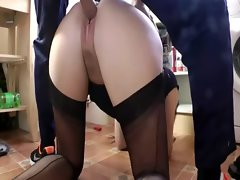 Mature in stockings is spoiling a cock