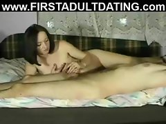 Russian brunette hookup amateur give handjob