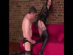 Mistress wants cum on her boots