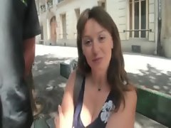 Sylvie a French mature double fucked