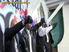 Blonde Treat for Group of Black Men