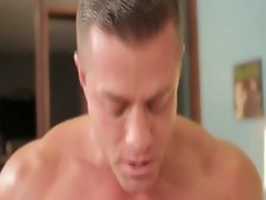 Gay blowjob and ass fucking action in hardcore session