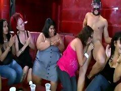 Amateur cfnm party sluts give stripper blowjob
