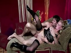 Horny real blonde gets a cumshot