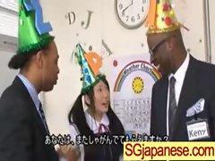 Asians Girls In School Uniforms Get Banged video-23