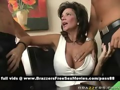 Mature busty brunette slut at a meeting