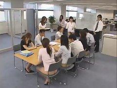 Cute real asian secretaries are working
