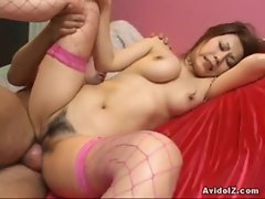 Busty Yuki Aida nailed with creampie www.beeg18.com