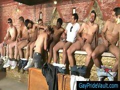 Stud sucking his 15 friends off before bukakke gaypridevault gay boys