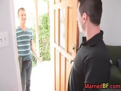 Hunky married straight dude gets gay video