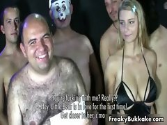 Busty Spanish blonde slut loves getting