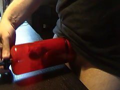 Jerking of precum after one hour pumping session ...