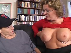 Thick Light-haired Filthy bitch Seduces 19 years old Lad