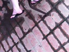 Redhead friend's cool feet