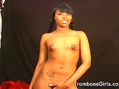 Fellow gets a rimjob from a filthy filthy ebony young woman