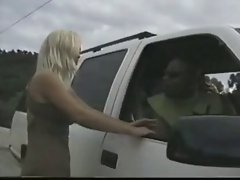 Blondie Hitchhiker Gangbanged By White And Black Lads