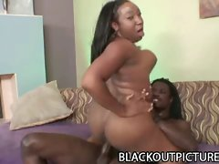 Big tit naughty ebony Tiffany Stacks shagged by a thick black phallus