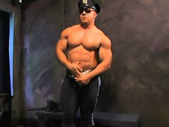 Muscular Cop Bodybuilder Solo