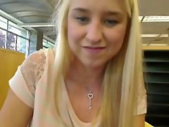 So Seductive Light-haired Masturbation Webcam In Library