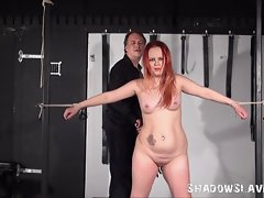 Redhead Amateur Slave Whipped