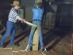 Spanked by Cowboy in the Barn