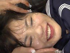 Sensual japanese pornstar meeting her fans