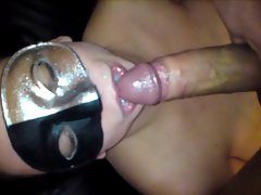 cum in mouth, she plays with it & then she swallows spunk