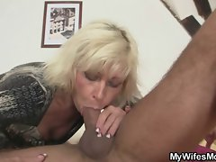 Blond slutty mom in law seduces me into sex