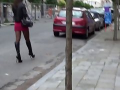 saucy teen in slutoutfit in the street belgium & upskirt&pantyhose
