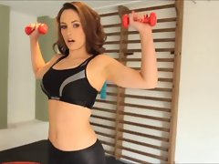 Anastasia Harris - Sensual Spandex Workout part 2