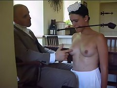 Man disciplines his maid