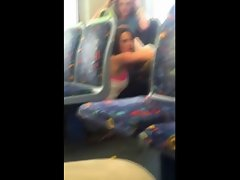 lesbos on a train