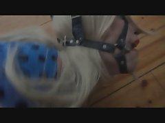 Nina Jay tied up struggling