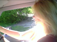 Sexual Blondie trying to make me crash my car,LMAO