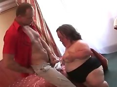 Ugly Aged Big beautiful woman Midget Strokes Screws and Facialed